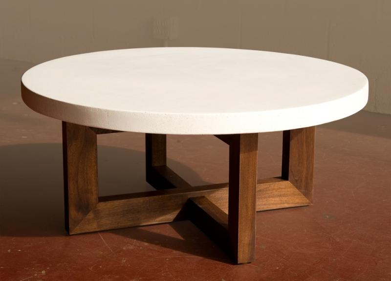 Rosina Coffee Table - walnut & cement