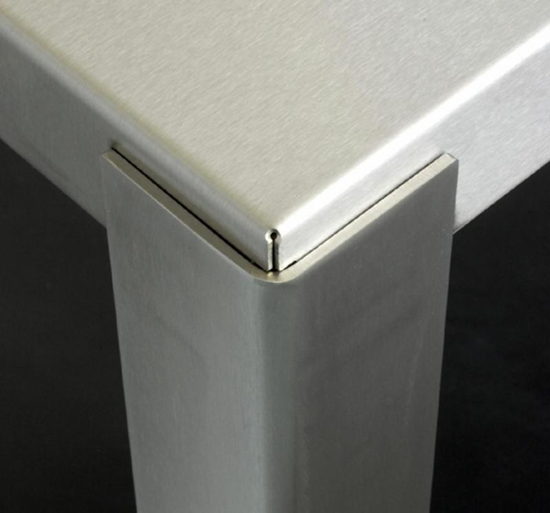 Brushed Stainless corner detail