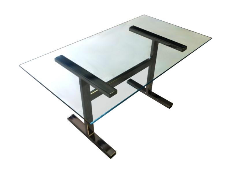 Clear Glass Desk