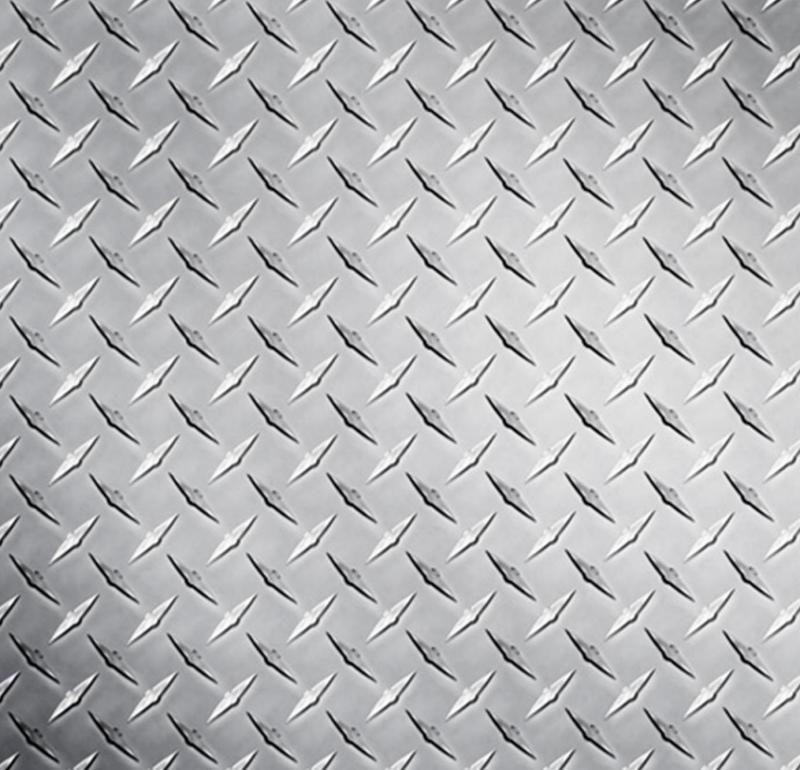 Silvered Diamond Plate Steel