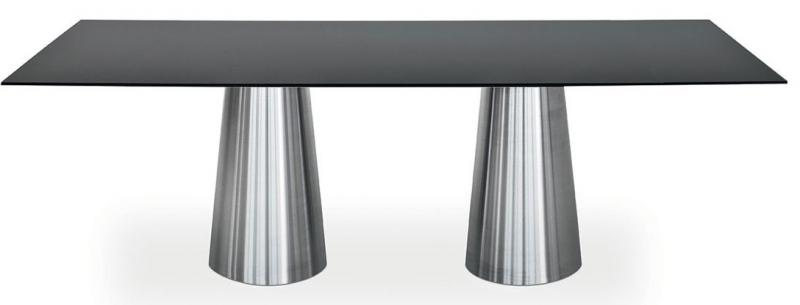 double tapered cone dining table