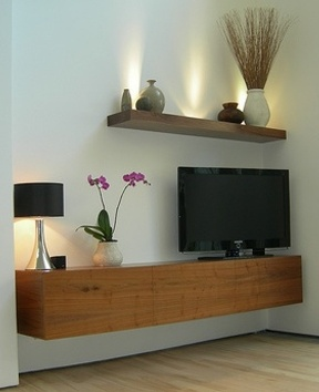 floating console and shelf