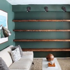floating wall shelves on drywall