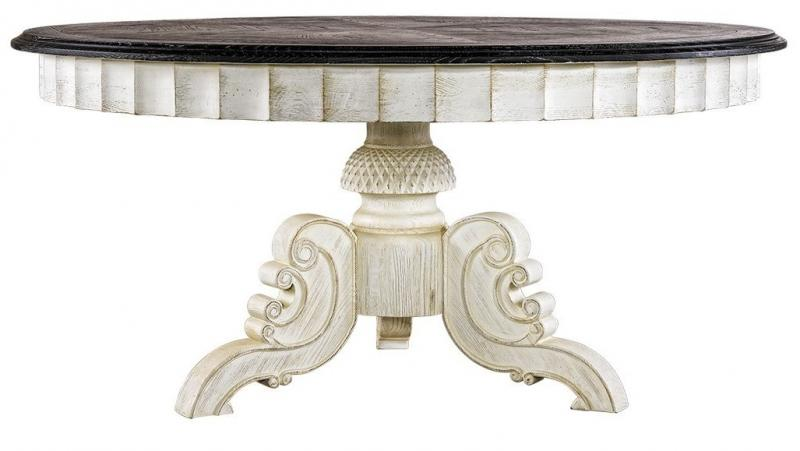 French Round Dining Room Table 8831-1201