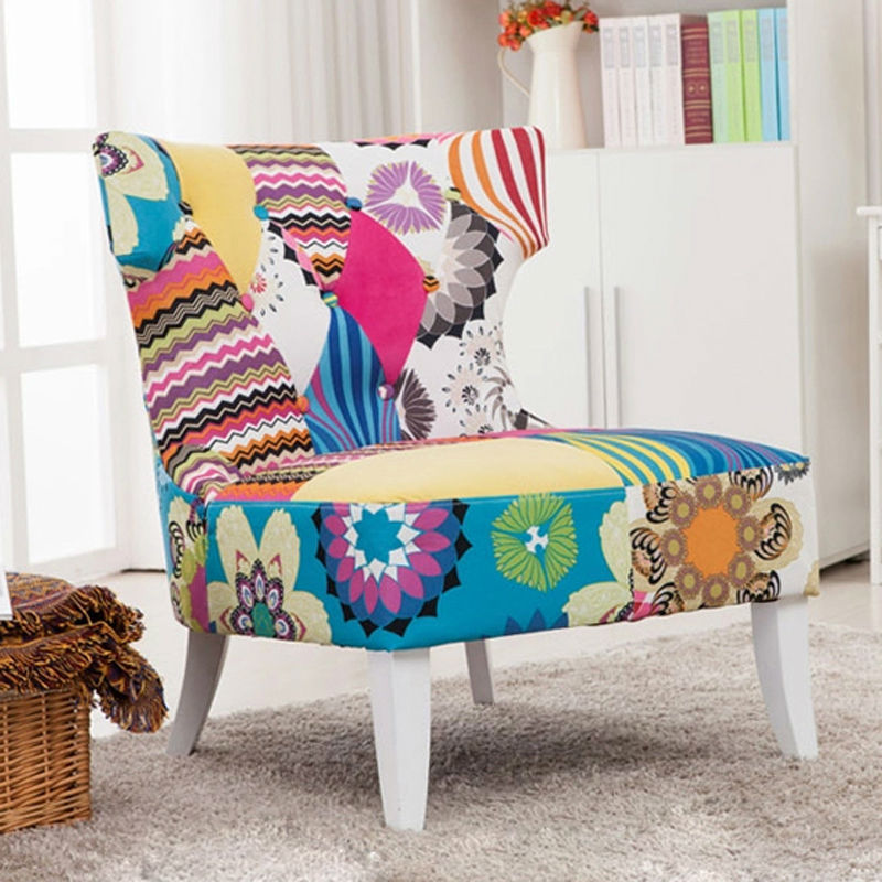 patchwork lounge chair