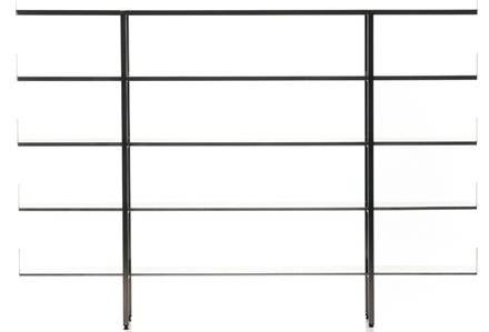 steel glass etagere