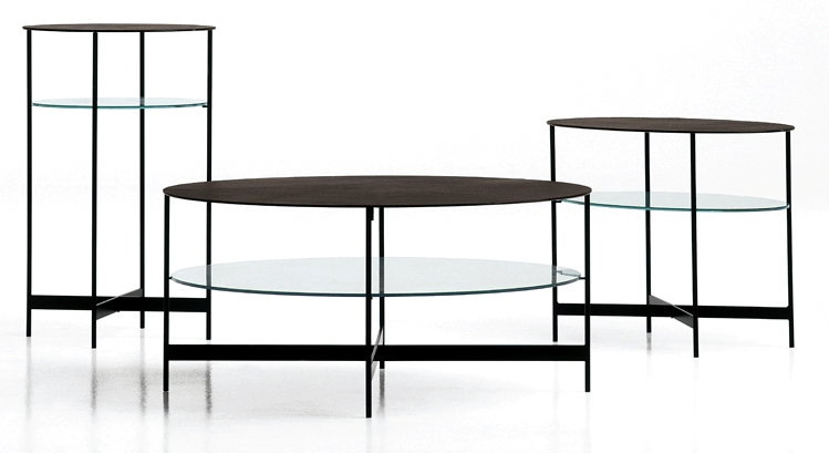 steel glass roundoid tables
