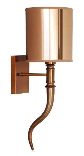 Horn Wall Lamp Copper